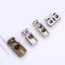 100 pcs/lot Metal Spring Deduction Hat CORD LOCK Drawstring Buckle Button Clothing Accessoriess