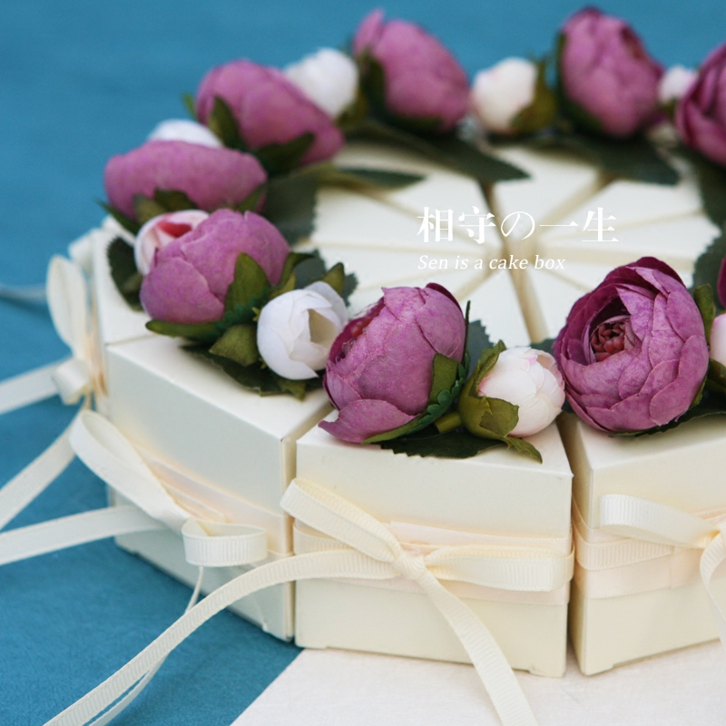 2017 Piękny Kwiat Dekoracji Cukierków Ślubu Polu Papieru, 10 Sztuka/zestaw Z Okazji Urodzin Dekoracje Dla Dzieci Favor Gift Bag,