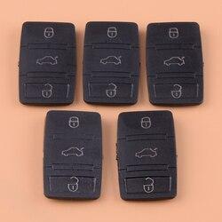 DWCX 5 шт. черный резиновый пульт дистанционного управления кнопочная панель чехол Fob ЗАМЕНА для VW тигуан ЖУК Jetta Skoda Octavia Seat Leon Altea