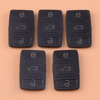 DWCX 5 uds Botón de tecla remota de goma negra  carcasa de repuesto para VW Tiguan  Beetle Jetta Skoda Octavia Seat Leon Altea|Carcasa de llave para coche| |  -
