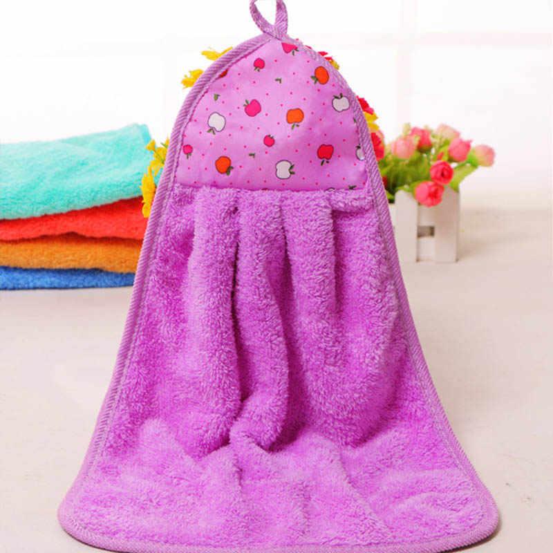Cartoon zwierząt miękki, koralowy, aksamitny ręcznik śliczne przedszkole dla dzieci wytrzeć ręcznik kuchnia używana wiszące ściereczki do naczyń dzieci ręcznik kąpielowy