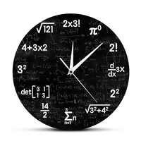 Math Equations and Notations Mathematics Chalkboard Geek Wall Clock Educational Gifts For Kids Teachers School Classroom Decor