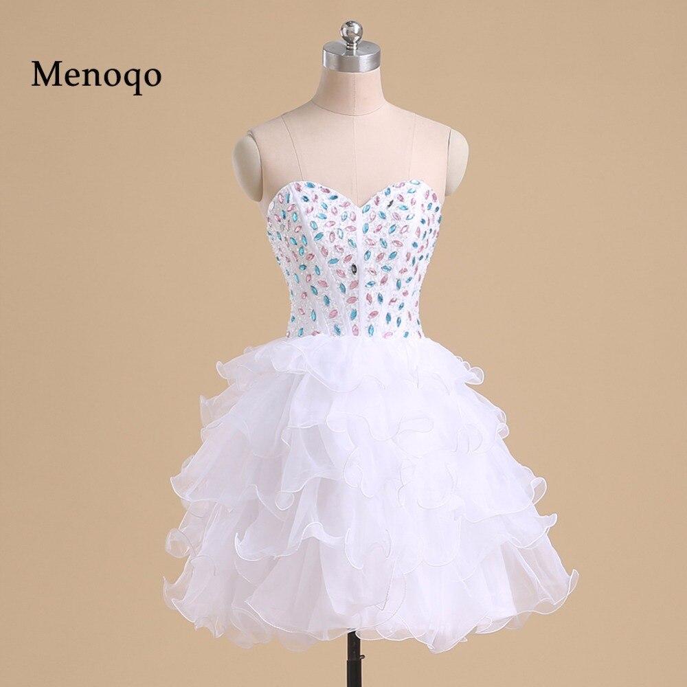PRD261 Photo réelle 2019 robe de bal adolescente chérie perlée Organza au-dessus du genou mini robes de soirée cocktail courte
