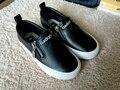 Высококачественный осень детей черные кожаные ботинки для девочек белый одежда обувь мальчиков кроссовки молнией-красный мягкой подошвой