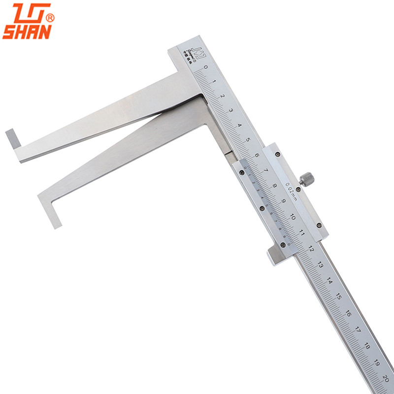 30 300mm/0.02 Vernier Caliper Long Claw Inside Groove Calipers Thicken Inner Ruler Measuring Instrument With Box-in Calipers from Tools    1