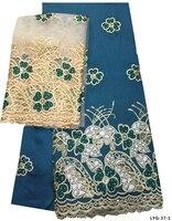 Chất lượng cao Phi george vải ren flower girl dresses dệt 7 yards trên mỗi lô tiêu chuẩn vải ren châu phi LYG-37