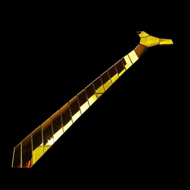 وصول جديد الاكريليك الذهب مرآة التعادل نموذج هندسي اليدوية موضة العلاقات ضئيلة ربطات العنق