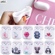 Soft Silicon Bags for Airpods Panda Elephant Unicorn Cat Fla
