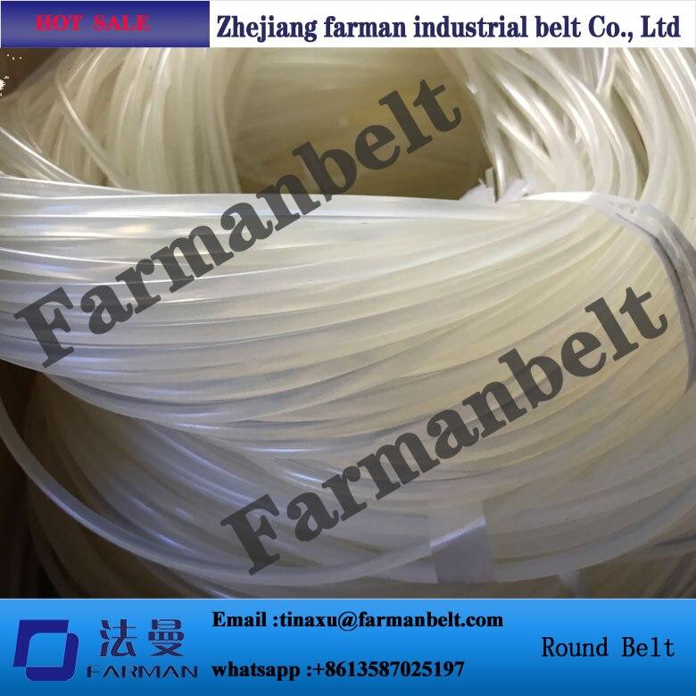seamless pu round belt diameter 4mm