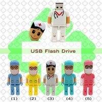 Engraçado Usb Flash Drive Médico Dentista Enfermeira Pen Drive Memory Stick Presentes Real Capacidade Pendrive Barato 8G, 16G, 32G
