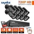 SANNCE 1080N 8-КАНАЛЬНЫЙ ВИДЕОНАБЛЮДЕНИЯ Системы Безопасности DVR 8 шт. 720 P ТВЛ Всепогодный Открытый Камеры ВИДЕОНАБЛЮДЕНИЯ 8 каналов Видеонаблюдения комплекты 1 ТБ