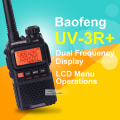 Baofeng UV-3R Plus mini walkie talkie dual band dual display hf transceiver two way radio handheld walkie talkie transceiver