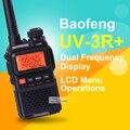 Baofeng uv-3r plus mini hf transceptor de banda dual de doble pantalla de walkie talkie de dos vías handheld de radio walkie talkie transceptor