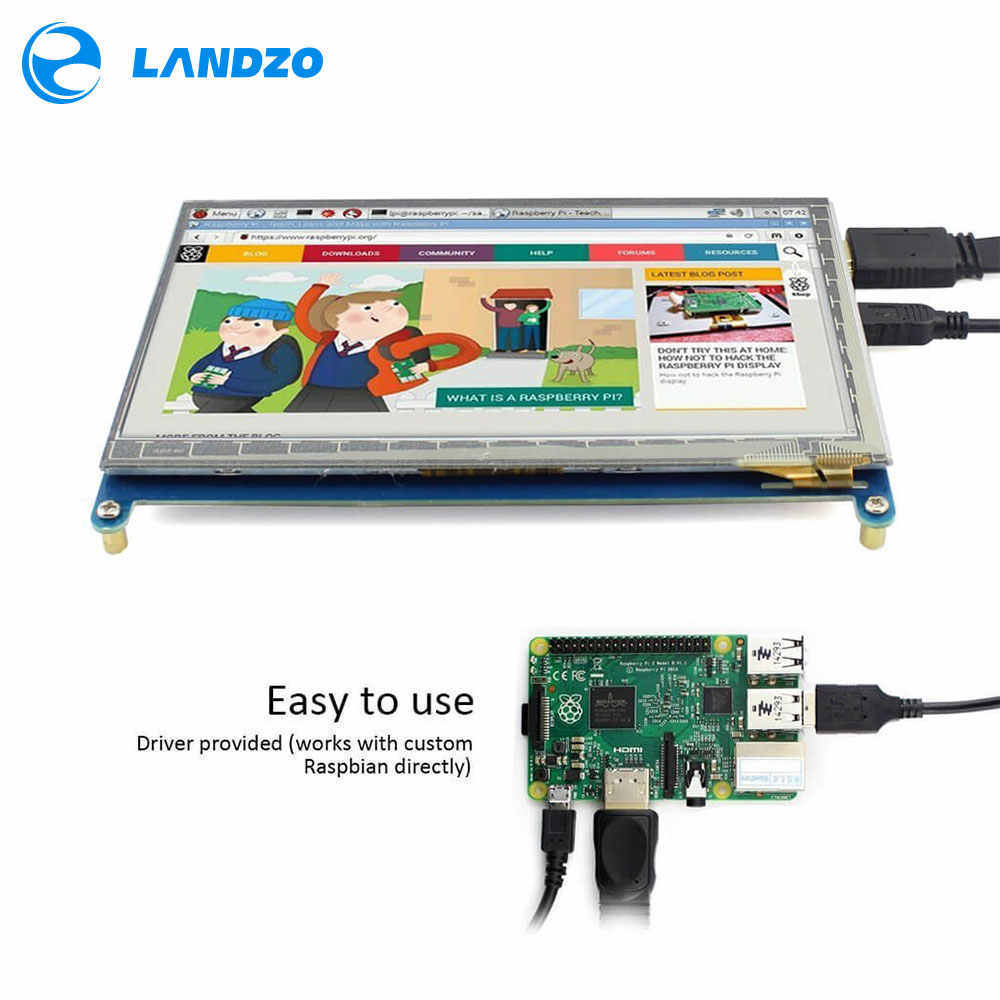 HDMI TFT ЖК-дисплей монитор 7 дюймов 1024X600 HD экран для Raspberry Pi B +/2B Raspberry Pi 3B