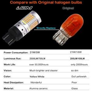 Image 5 - Ijdm Geen Hyper Flash 21W 7443 Led Canbus 3157 1157 Led Switchback Wit/Amber Led Lampen Voor Overdag running/Knipperlichten