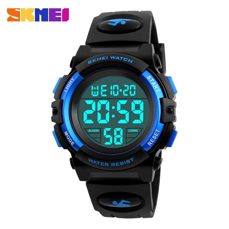 SKMEI Brand Children Watches LED Digital Multifunctional Waterproof Wristwatches Outdoor Sports Watches For Kids Boy Girls Swim