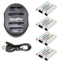 4 Pcs DuraPro 900mAh NB 11L NB11L Camera Battery 1 Pcs USB Dual Charger For Canon