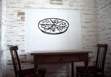 2015 Creative Pizza Vinyl Wall Decal Pizza Italian Restaurant Cafe Mural Art Wall Sticker Pizza Shop Window Glass Decoration