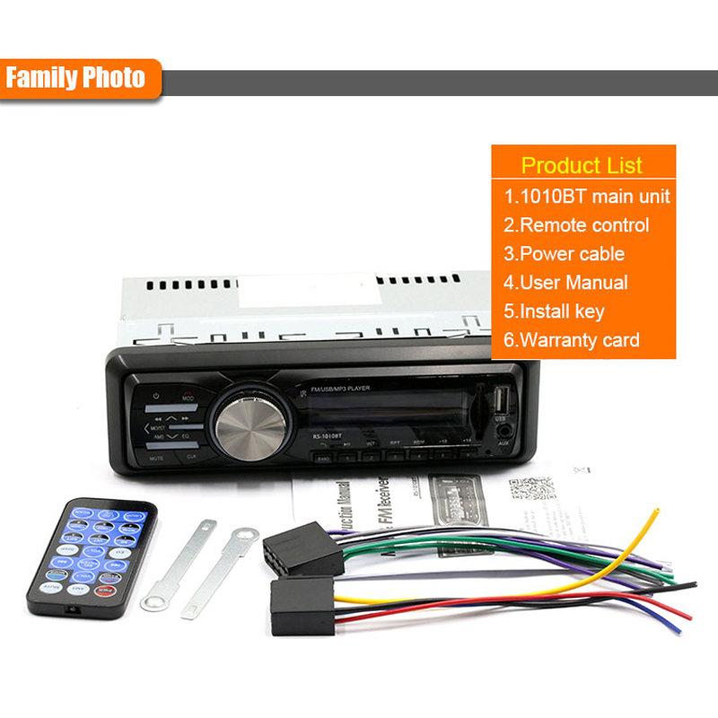 12V Bluetooth Auto Car Stereo Radio Vehicle MP3 Player Support Handsfree FM  Aux Input SD Card USB + Remote Control-in Car Radios from Automobiles &