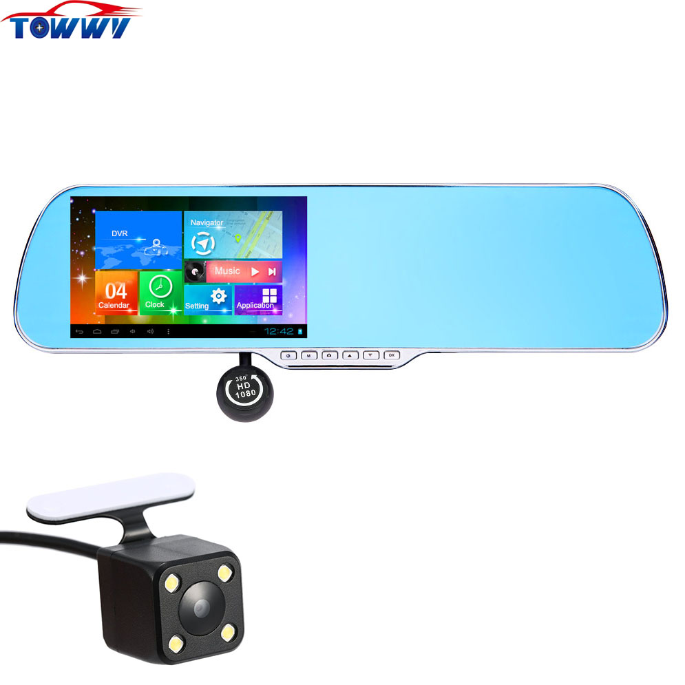 все цены на OE917 WiFi 5 inch Touch Screen AllWinner Car DVR Dual Lens With GPS Navigation and Android System Bluetooth and Radar Optional онлайн
