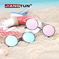 JIANGTUN 2017 Sale Hot Sale Oval Mirror Double Bridge Sunglasses Gothic Designer Sun Glasses Vintage Oculos Feminino Uv400