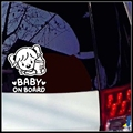 Bebê a Bordo Do Bebê Menina de Advertência Reflexivo Adesivos Afixados Para A Parte Traseira Do Carro Da Janela Traseira JSD-2076