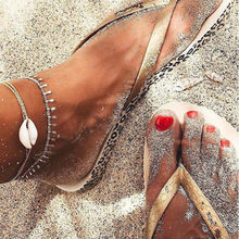 Romantic Shell freedom anklets Beach Chain Ankle Bracelet Fashion Feet chain for Women girl silver gold color summer style(China)