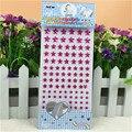 Cristal Acrílico rosa estrella de Cinco puntas Pegatinas Kids Toy Autoadhesivo maquillaje Facial Del Pelo decoración de La Boda Piedras pegatina