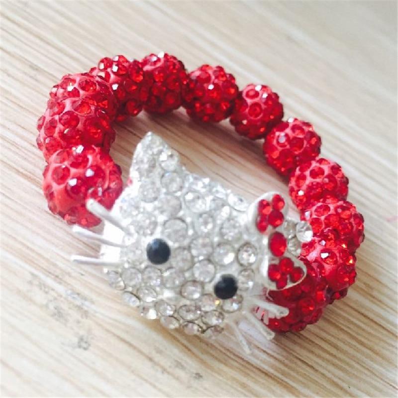 1 SZTUK Hello Kitty Bransoletki dla dzieci Handmade Rope Chain Wrap - Modna biżuteria - Zdjęcie 4