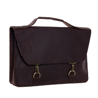 ROCKCOW 14 Inch Business Briefcase Laptop Bag Man Genuine Leather Bags Real Leather Handbags Casual Mens