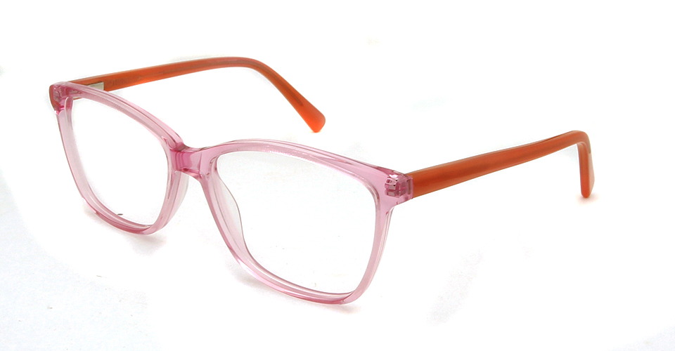 square glasses pink
