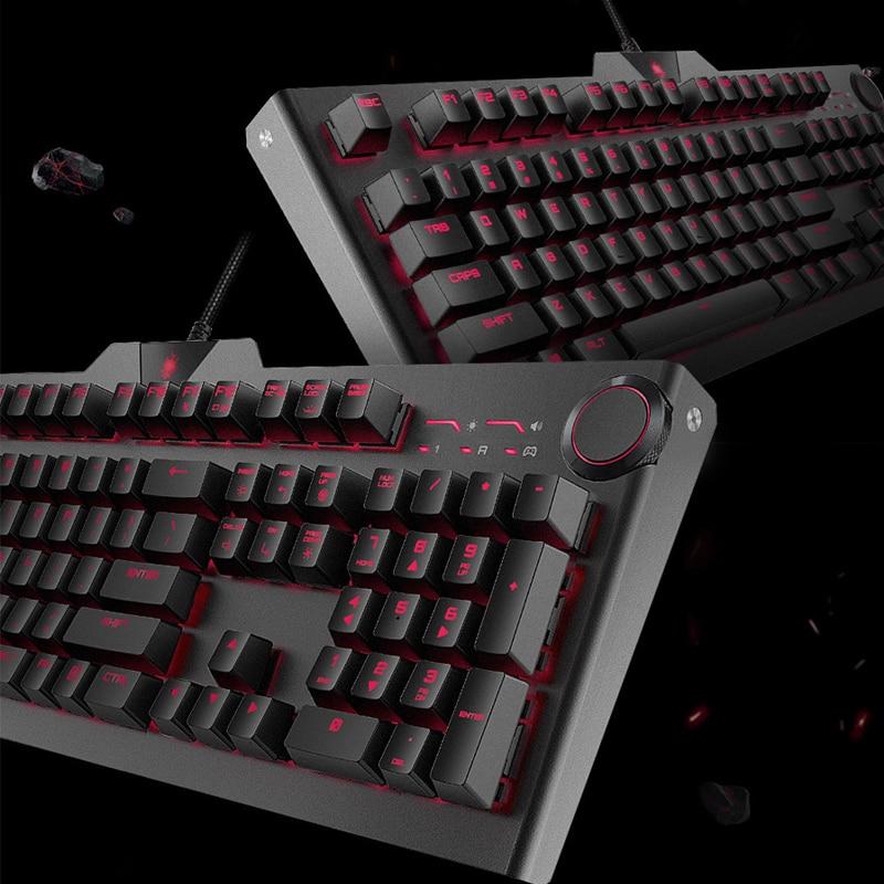 Blasoul Y520 Gaming Mechanical Keyboard 104 keys 15 RGB Backlight Cherry MX Switch 1000Hz 1.8m Wired Edition Mechanical Keyboard цены