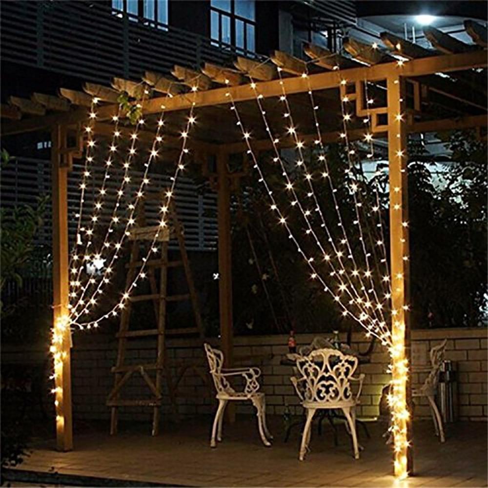 Curtain christmas lights - Kmashi 300leds Fairy String Icicle Led Curtain Light 300 Bulbs Outdoor Xmas Christmas Home Wedding Party