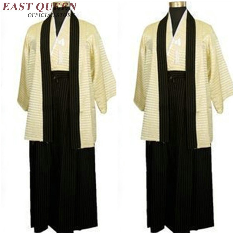 Traditional Japanese Mens Clothing Japanese Kimono Samurai Clothing Karate Men Japan Kimono Cosplay   NN0294 C