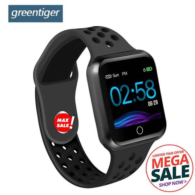 Greentiger S226 Smart Watch Men Women Fitness Tracker  Heart Rate Monitor Smart Bracelet  Blood Pressure Pedometer Android IOS