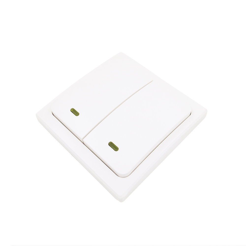 Free Shipping 2 Keys Self-powered Wireless Water-proof Wall Switch Energy Conservation Control Switch No Bettery Required 50pcs lot 6x6x7mm 4pin g92 tactile tact push button micro switch direct self reset dip top copper free shipping russia