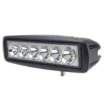 6 дюймовая светодиодная панель | 10 шт. 6 дюймов Спот Наводнение Однорядный тонкий 18 Вт 4x4 грузовик внедорожный светодиодный автомобиль светодиодный рабочий свет бар 12 В для ...