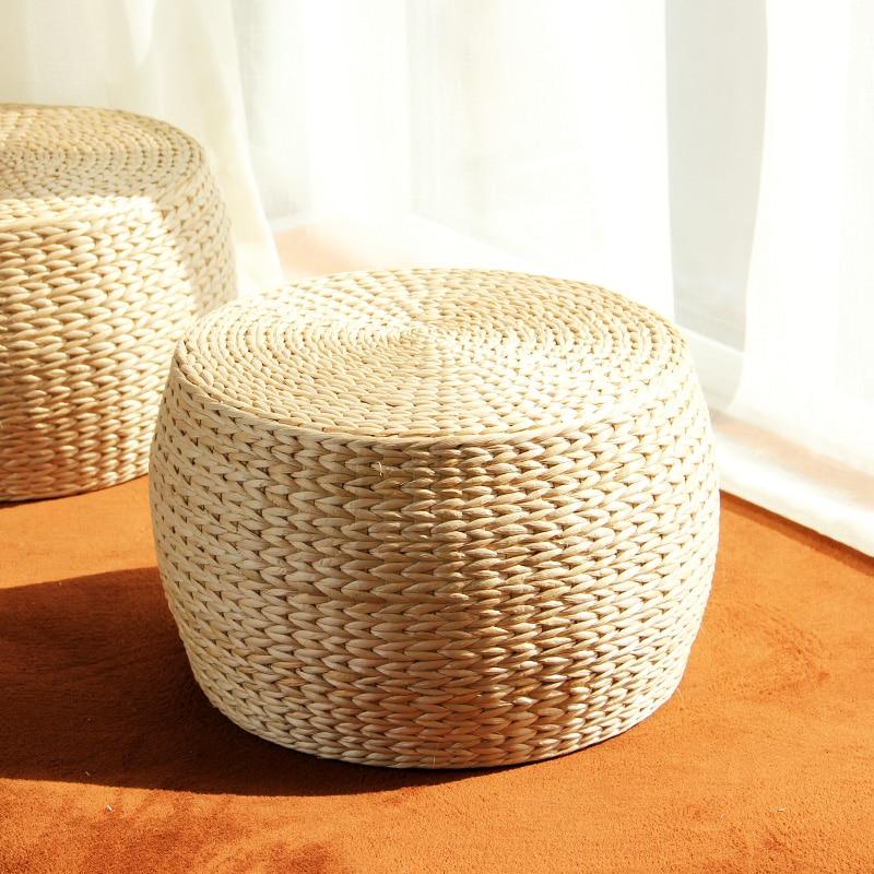 Mode herbe Table tabouret idyllique coussin oreiller tapis Tatami fenêtre flottante tabouret rond ameublement peintures murales accessoires décoration