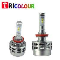 TRICOLOUR 1set 9005 HB3 40w power LED Headlight Bulb High Beam for CHEVROLET Silverado 1500 2500 3500 (2.2)