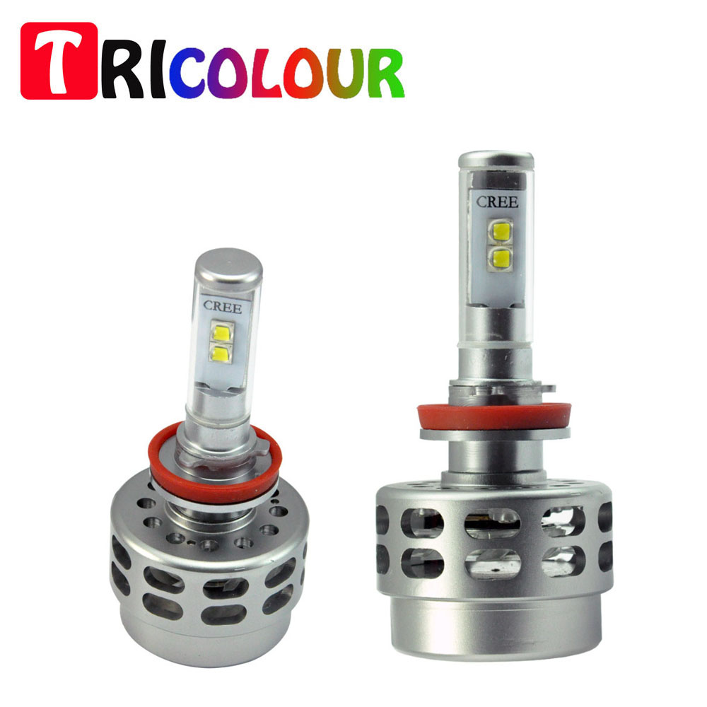 ∞Tricolor 1 Unidades 9005 HB3 40 W potencia LED Bombilla alta para ...