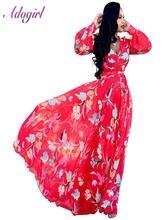 Женское летнее длинное платье в стиле бохо с цветочным принтом
