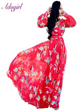 Women Summer Plus Size Floral Print Boho Beach Long Dress Elegant Deep V-Neck Evening Party Dresses Work Office Vestidos S-5XL