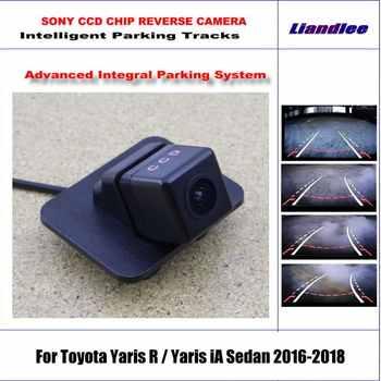 Rückfahr Kamera Für Toyota Yaris R / Yaris iA Limousine 2016 2017 2018 Intelligentized Rückansicht Kamera Dynamische Beratung Tracks