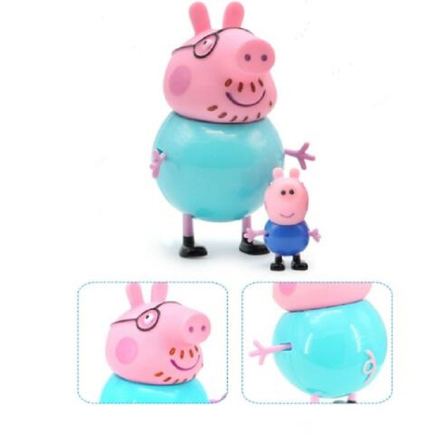 New Peppa Pig Little Girl George Family 4 Piece Combination Action Model Doll Pelucia Anime Toy Child Birthday Christmas Gift