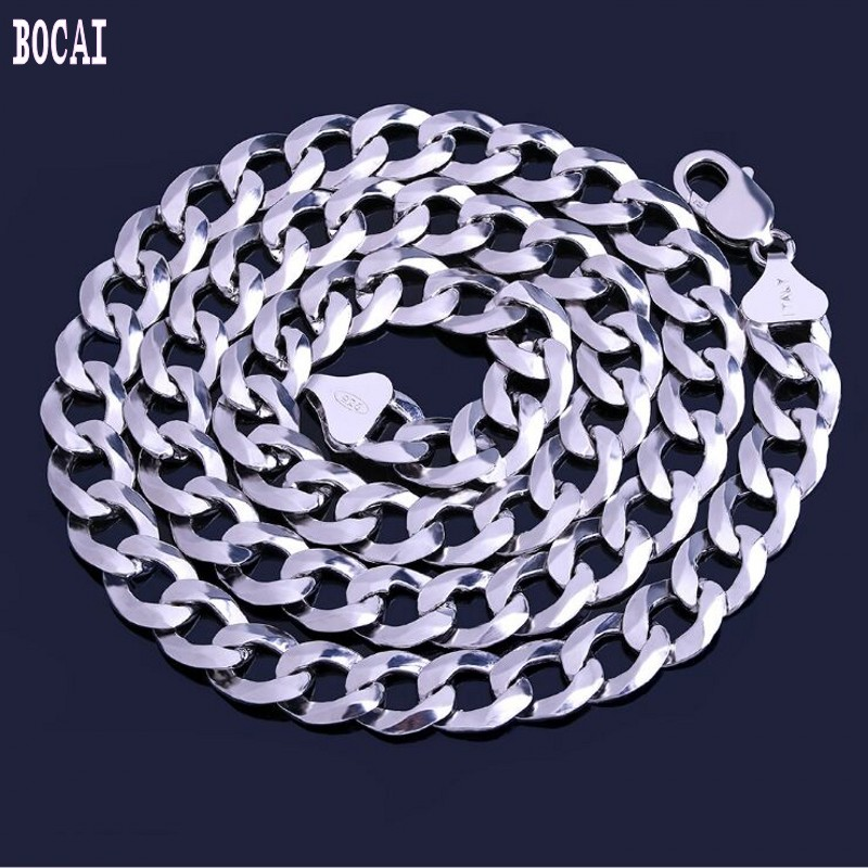 2019 fashion new car flower hip hop silver necklace hot mens chain s925 sterling Cuban