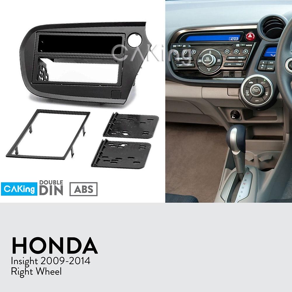 Double Din Car Fascia Radio Panel for Honda Insight 2009 2014 Right Wheel Dash Fitting Kit