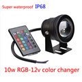 Rgb Changing colors Ground aquarium lighting 10w 12v Spot Waterproof Ip68 Pool Light Led Lamp For Car And Outdoor Lighting power