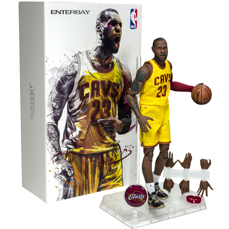 NBA Basketball Star Lebron James Action figure 22cm High Model Toys for Sport Basketball Lover Collection for boy children gift nba basketball characters kobe james curry kyrie john damian 10cm action figure toys