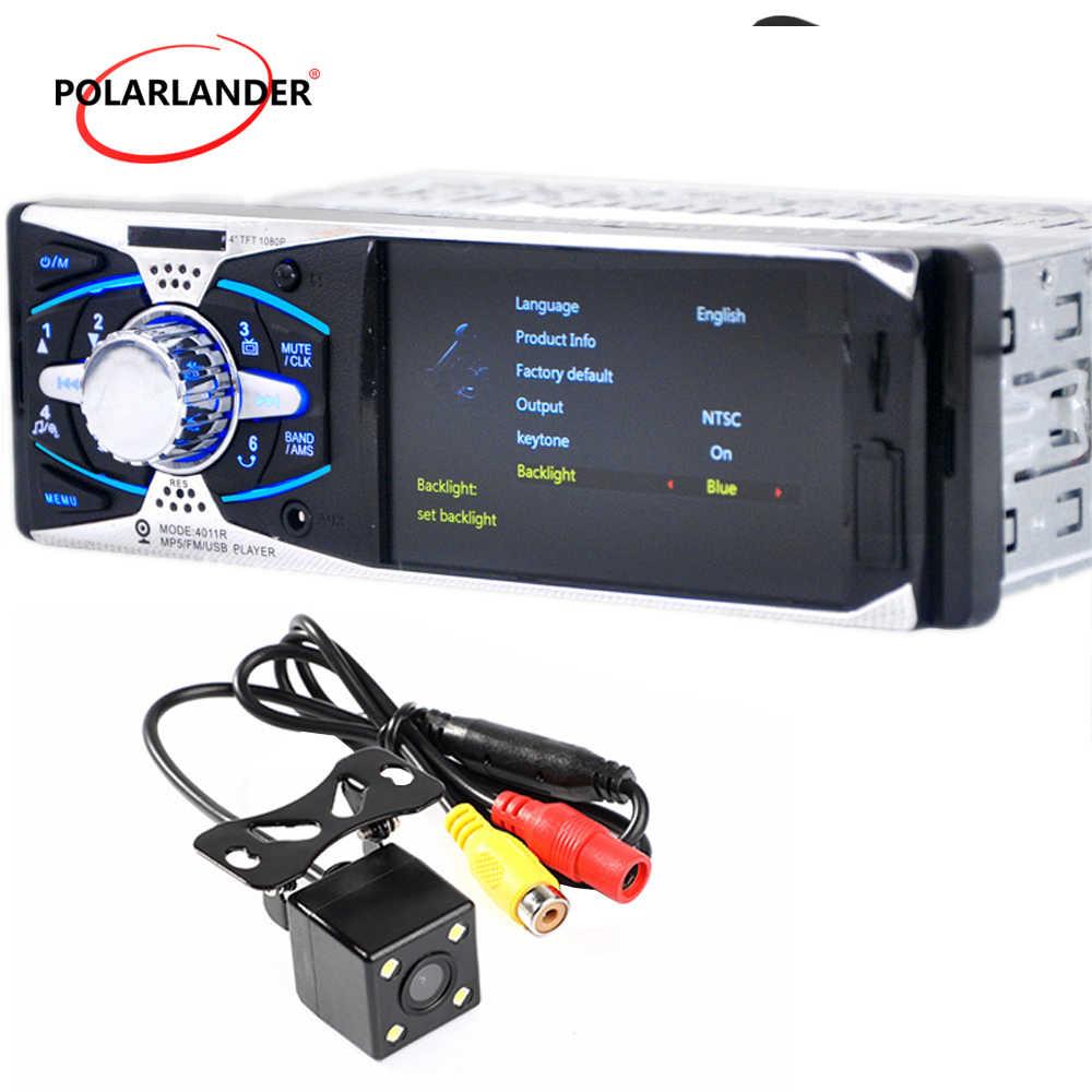 "4.1 ""TFT HD ヘッドユニット MP3/MP5/Fm-ダッシュカメラ 12V バックミラーカーラジオステレオ 1Din USB SD AUX ミラーリンク Android"