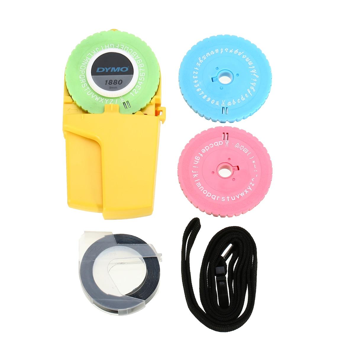 1 Set DIY Label Maker Tape Embossing Label Maker Manual Embossing 3 Word Dishes + 1 Label Refill